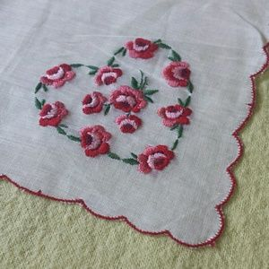 1960s Swiss Embroidered Cotton Kerchief